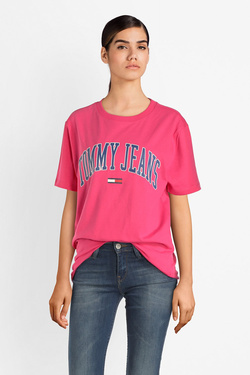 Tee-shirt TOMMY JEANS DW0DW05703 Rose fuchsia