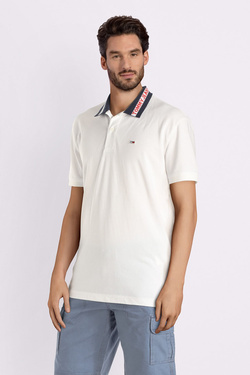 Polo TOMMY JEANS DM0DM06022 Blanc