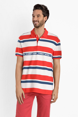 Polo TOMMY JEANS DM0DM06023 Rouge