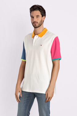 Polo TOMMY JEANS DM0DM06024 Blanc