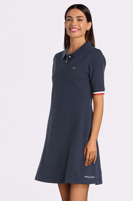 Robe polo en maille piquée tommy jeans TOMMY JEANS