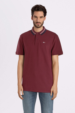 Polo TOMMY JEANS 07195 Rouge bordeaux
