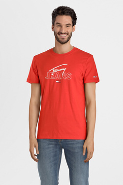 Tee-shirt TOMMY JEANS 07011 Orange