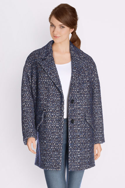 Manteau tweed avec laine TRENCH AND COAT