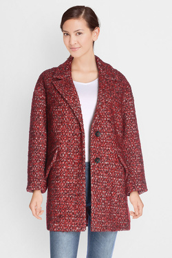 Manteau TRENCH AND COAT BRILLANT 2 Rouge bordeaux