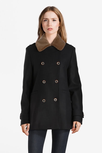 Manteau laine majoritaire TRENCH AND COAT