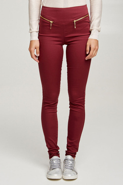 Pantalon VERO MODA 10190391 Rouge bordeaux