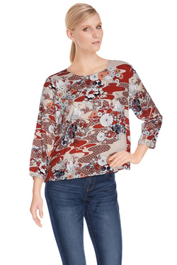 VERO MODA Tee-shirt manches longues rouge 10149268