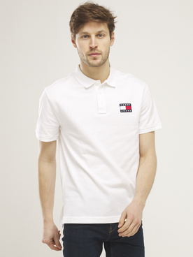 Polo TOMMY JEANS TOMMY BADGE Blanc