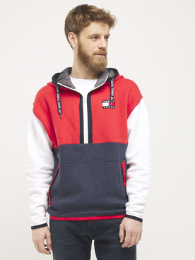Sweat-shirt TOMMY JEANS CBLK HOODIE Rouge