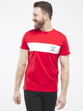 Tee-shirt TOMMY JEANS STRIP LOGO Rouge