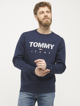 Sweat-shirt TOMMY JEANS CREW HOODIE Bleu marine