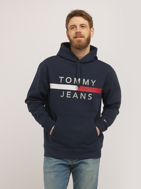 Sweat-shirt TOMMY JEANS FLAG HOODIE Bleu marine