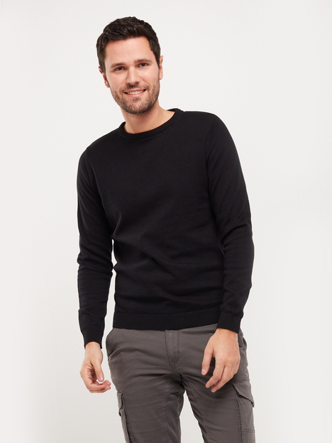 Pull col rond 100% coton bio JACK AND JONES