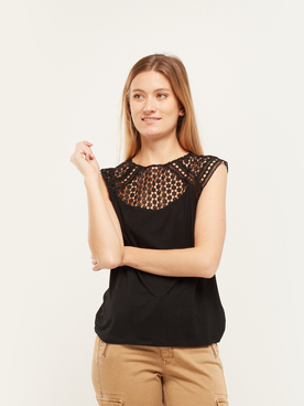 Tee-shirt MOLLY BRACKEN T1153P20 Noir