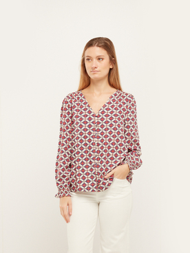 Chemise manches longues RUE MAZARINE BETSY Rouge