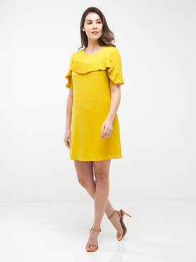 Robe MOLLY BRACKEN P1189P20 Jaune moutarde