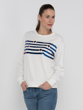 Sweat-shirt MOLLY BRACKEN E146P20 Blanc