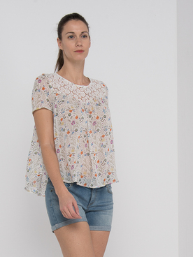 Blouse MOLLY BRACKEN R1427P20 Blanc