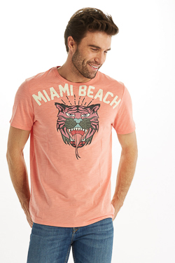 Tee-shirt CAMPS UNITED 53CP1TS105 Rose