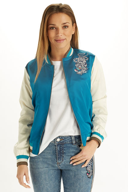 Bomber en satin bicolore CAMPS UNITED