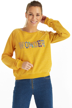 Sweat-shirt CAMPS UNITED 53CP2SW301 Jaune