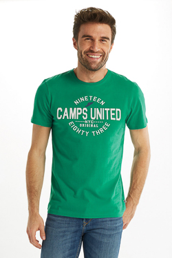 Tee-shirt CAMPS UNITED 53CP1TS111 Vert