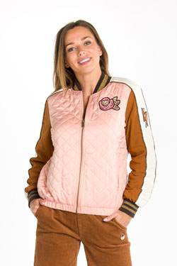 Blouson CAMPS UNITED 54CP2VE303 Rose