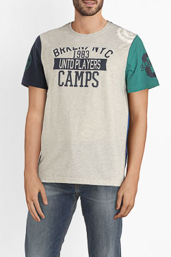Tee-shirt CAMPS UNITED 54CP1TS102 Gris