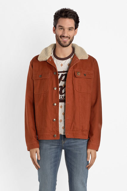 Veste en denim sherpa CAMPS UNITED