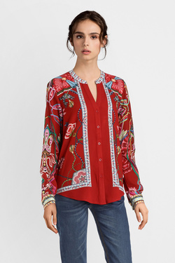 Chemise manches longues DESIGUAL 19SWCW88 CAM SILVANA Rouge