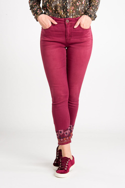 Pantalon DESIGUAL 19WWPN19  PANT MIAMI COLORS Rouge