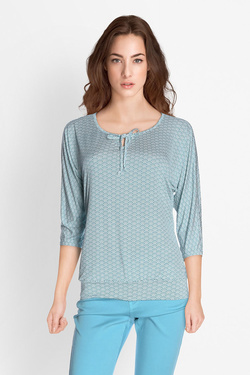 Tee-shirt manches longues DIANE LAURY 51DL2TS618 Bleu turquoise