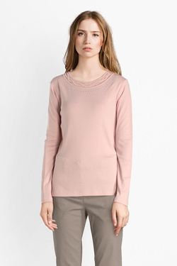 Tee-shirt manches longues DIANE LAURY 52DL2TS821 Rose pale