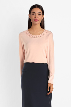 Tee-shirt manches longues DIANE LAURY 54DL2TS801 Rose pale