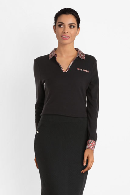 Tee-shirt col polo DIANE LAURY