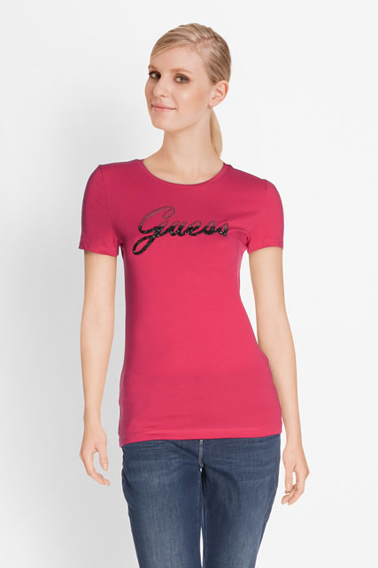 Tee-shirt décor clous et perles GUESS