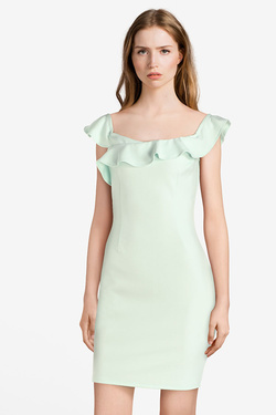 Robe GUESS W0GK0RK9PA0LUPE DRESS Vert