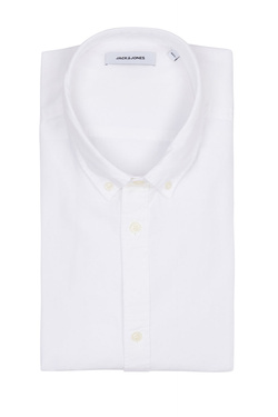 Chemise manches courtes JACK AND JONES 12152783 Blanc
