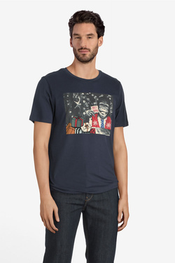 Tee-shirt JACK AND JONES 12162578 Bleu marine