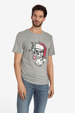 Tee-shirt JACK AND JONES 12162642 Gris clair