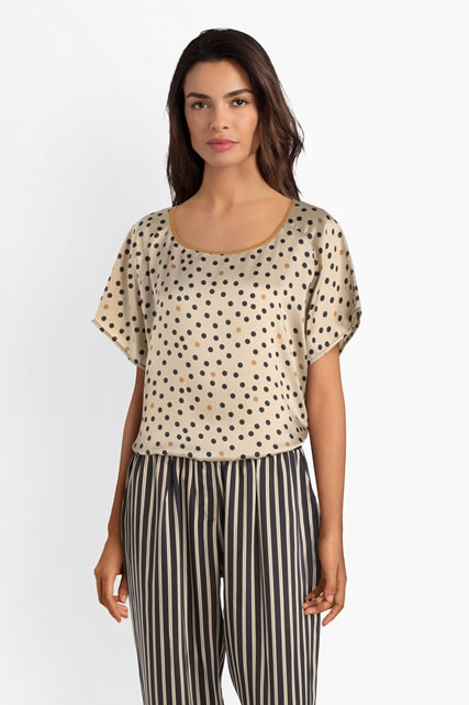 Blouse pois et rayures LA FEE MARABOUTEE