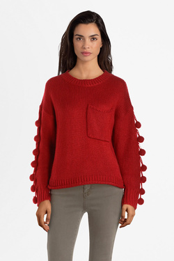 Pull LILI SIDONIO BY MOLLY BRACKEN SL319A19 Rouge
