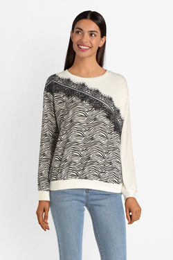 Sweat-shirt LILI SIDONIO BY MOLLY BRACKEN TL91A19 Blanc