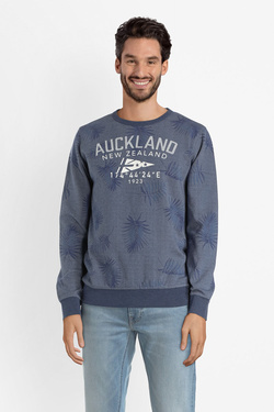 Sweat-shirt NZA NEW ZEALAND AUCKLAND 19BN306 Bleu marine