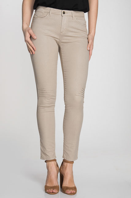 Pantalon slim en coton stretch enduit ONE STEP