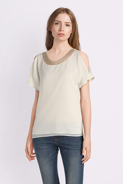 Tee-shirt ONE STEP FL11131 Ivoire