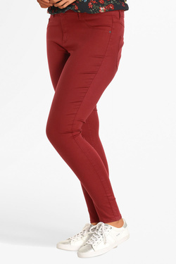 Pantalon ONLY CARMAKOMA 15177126 CARTHUNDER Rouge bordeaux