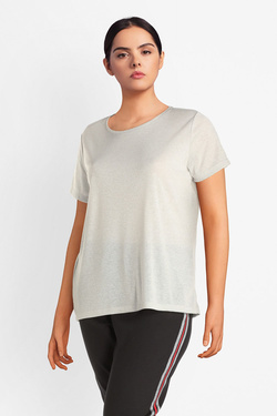 Tee-shirt ONLY CARMAKOMA 15172382 CARREX Argent