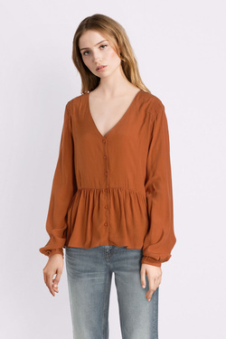 Blouse ONLY 15186380 ONLELLIE Marron